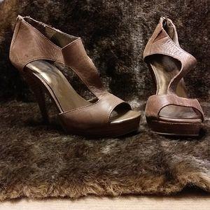 Brown leather herls